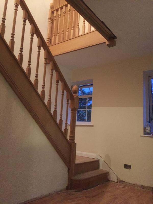 Image 123 - new oak stair case refurbishment with exising strings left in