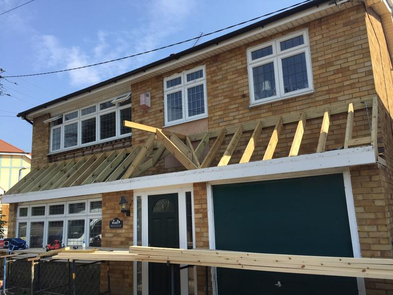 Image 24 - new porch roof to a property in billericay - pic 1