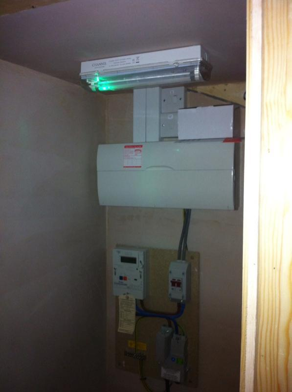 Image 13 - New build house fuse board in under stairs cupboard