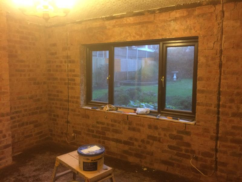 Image 53 - Lounge after old plaster removed