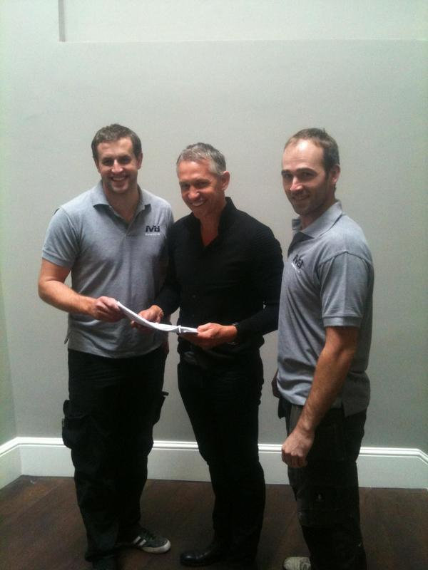 Image 26 - Signing off a job with a happy client! (Gary Lineker)