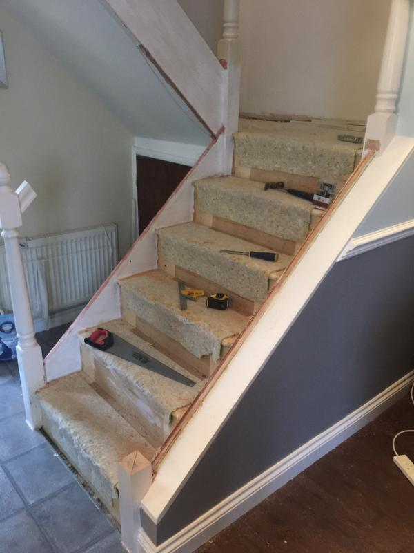 Image 40 - removal of handrial and posts and a full new handrail system complete with mahogany handrial - pic 1