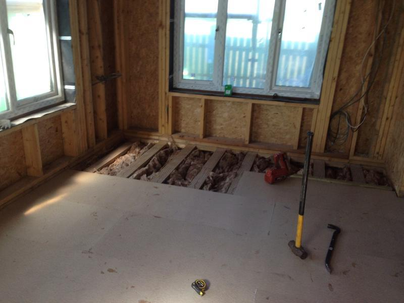 Image 32 - Chipboard flooring in sun room extension