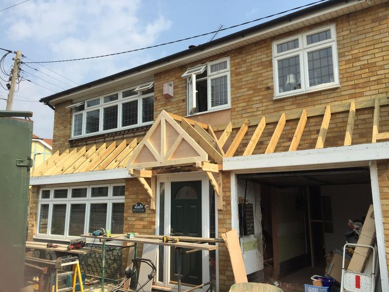 Image 25 - new porch roof with hand made gallows bracket & porch front - pic 2