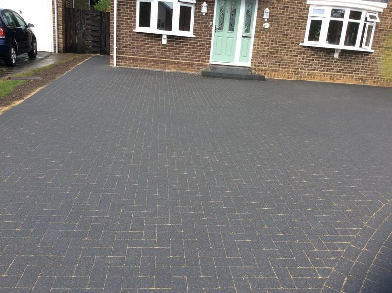 Image 112 - Front driveway charcoal block paving