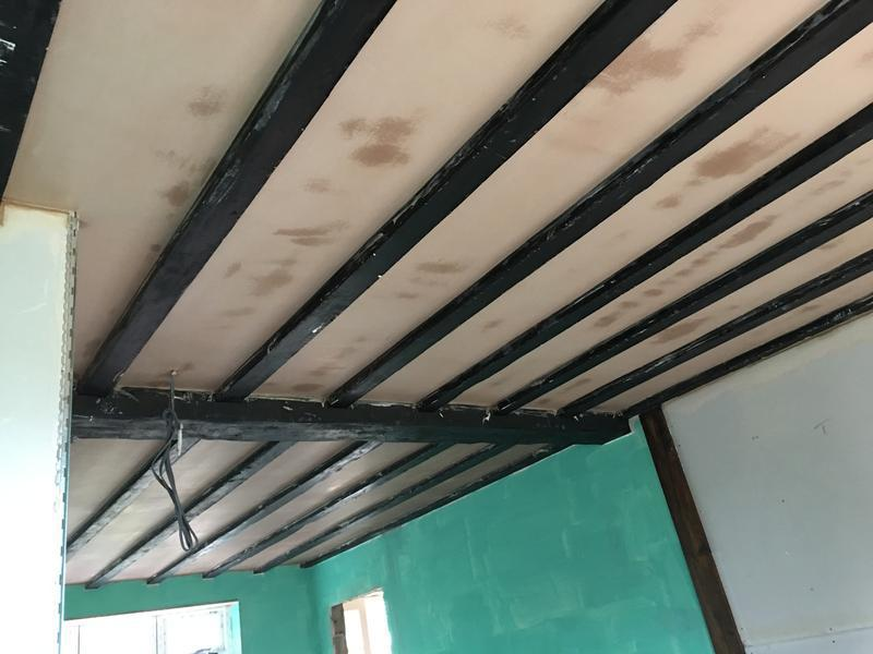 Image 16 - Ceiling boarded and skimmed keeping beams