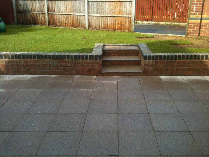 Image 3 - Finished patio and wall