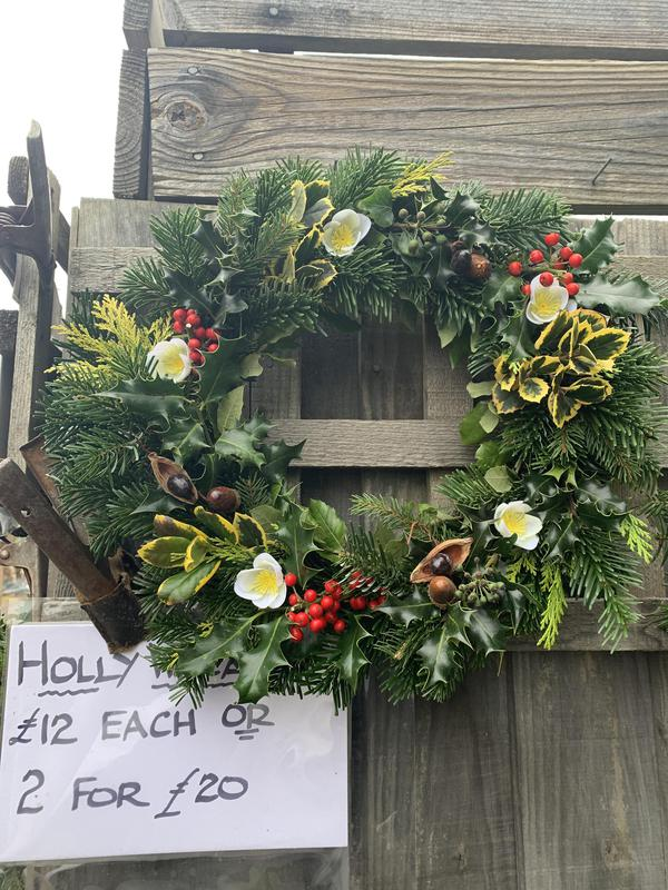 Image 4 - Holly wreathes - please call Sharon 07831137917