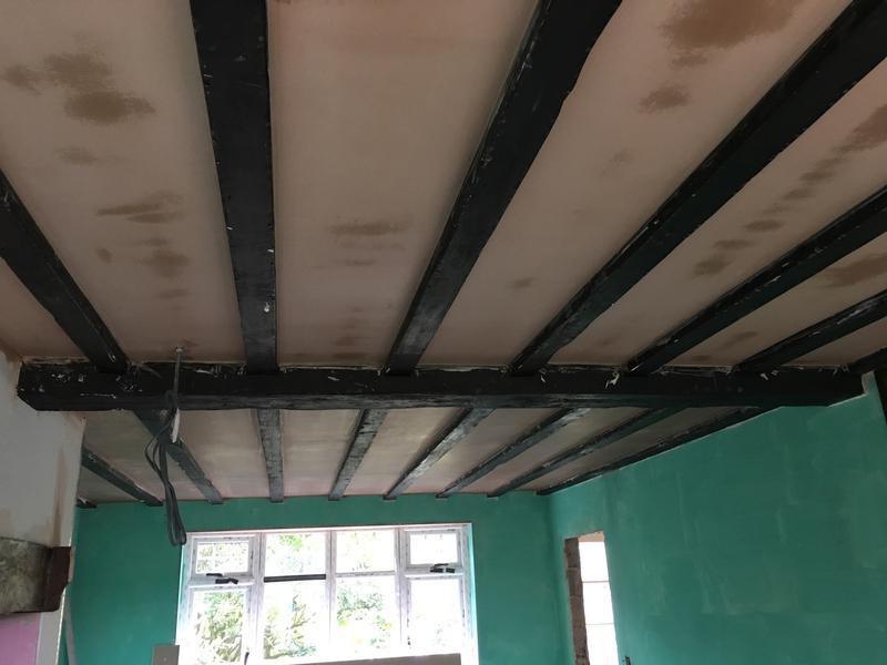 Image 23 - Ceiling boarded and skimmed keeping beams