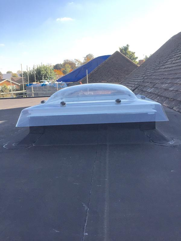 Image 5 - Velux skydome and EPDM rubber roof installed