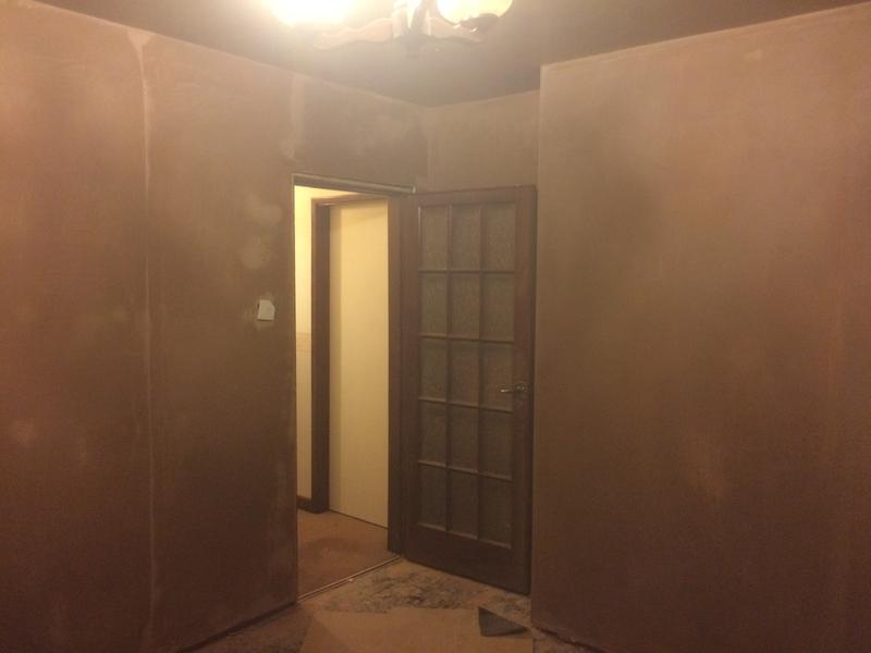 Image 52 - Lounge skimmed after dry lining