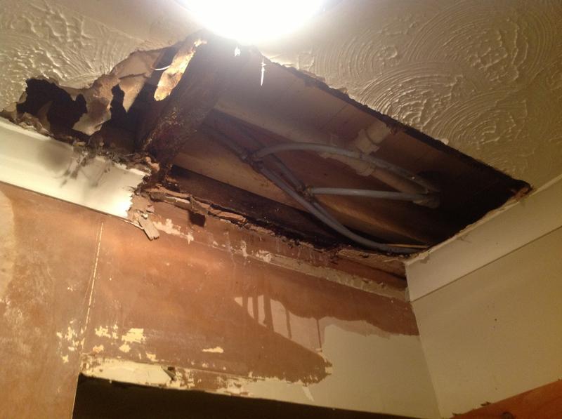 Image 21 - Damage to hallway ceiling