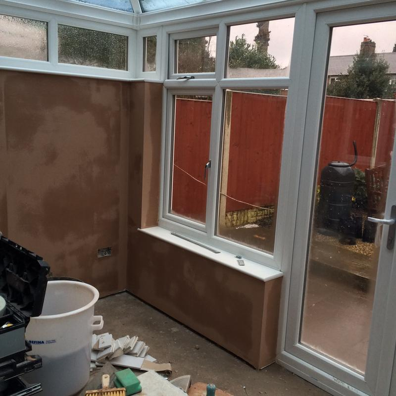 Image 30 - Consevatory dry lined and skimmed