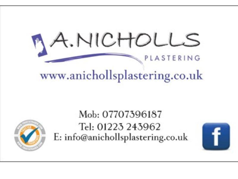 A Nicholls Plastering logo