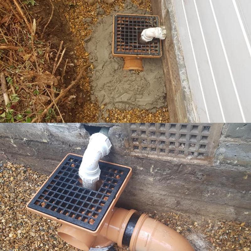 Image 16 - Replacement of a drain due to tree roots effecting it, causing the old clay pipes to crack.