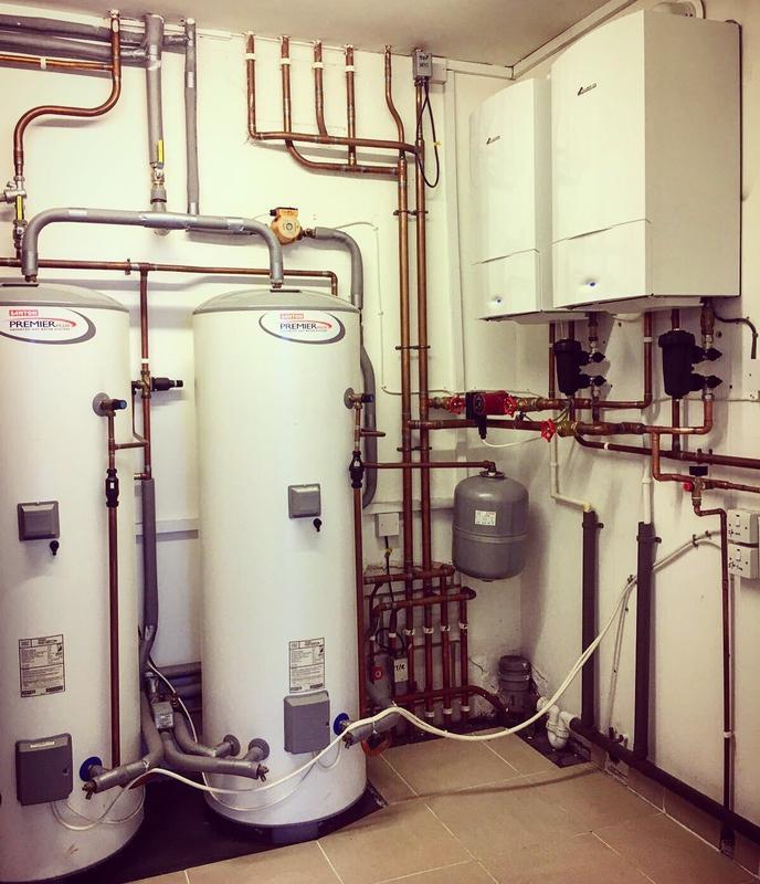 Image 1 - Worcester-Bosch Boiler Plant Room in Hersham, Surrey #plumber #gasengineer #boiler #heating