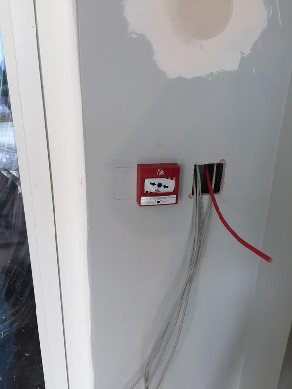 Image 8 - Fire alarm break glass install