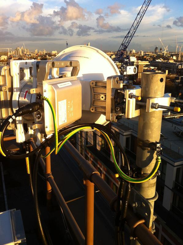 Image 14 - Low latency microwave data link install