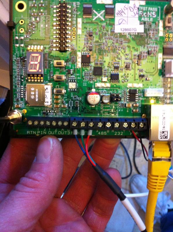 Image 9 - Install of webway one dual path signalling, with texecom alarm panel