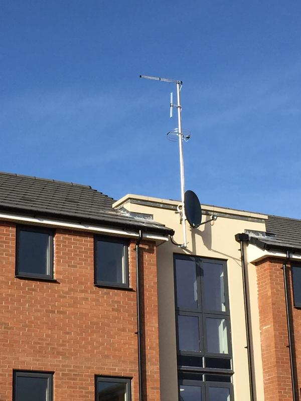 Image 7 - Install of new IRS aerial and dish