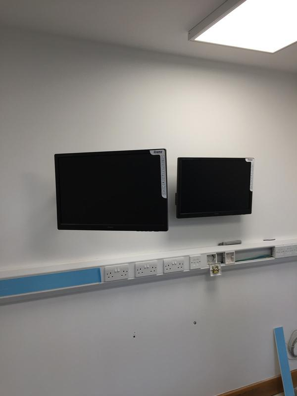 Image 28 - installation of two new cctv monitors for new concierge