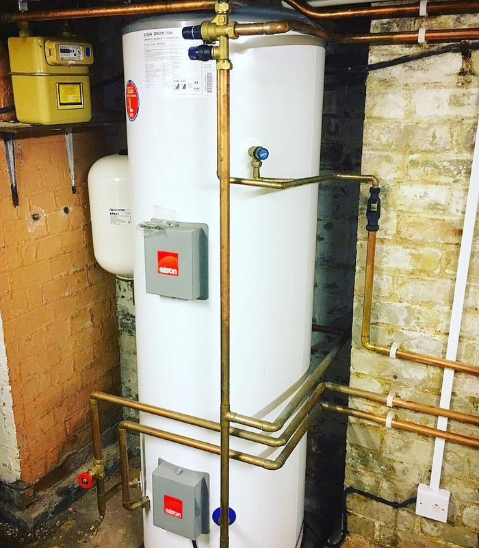 Image 2 - Unvented Hot Water Cylinder in Thames Ditton, Surrey #plumber #gasengineer #boiler #heating