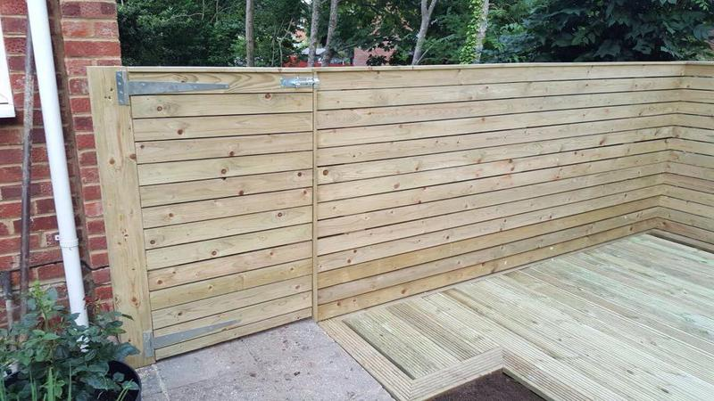 Image 20 - HORIZONTAL CLADDED FENCING WITH DECKING
