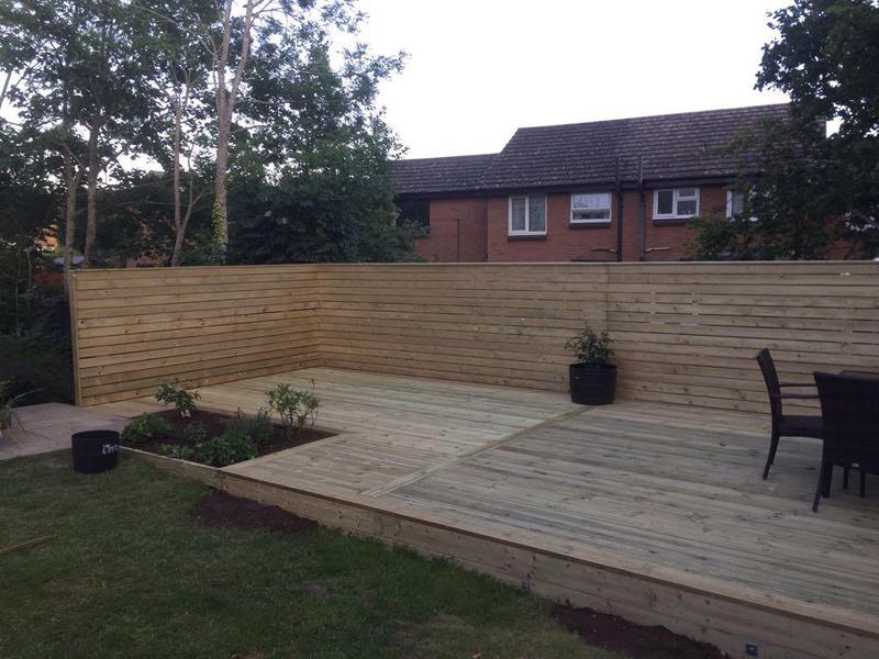 Image 21 - HORIZONTAL CLADDED FENCING WITH DECKING