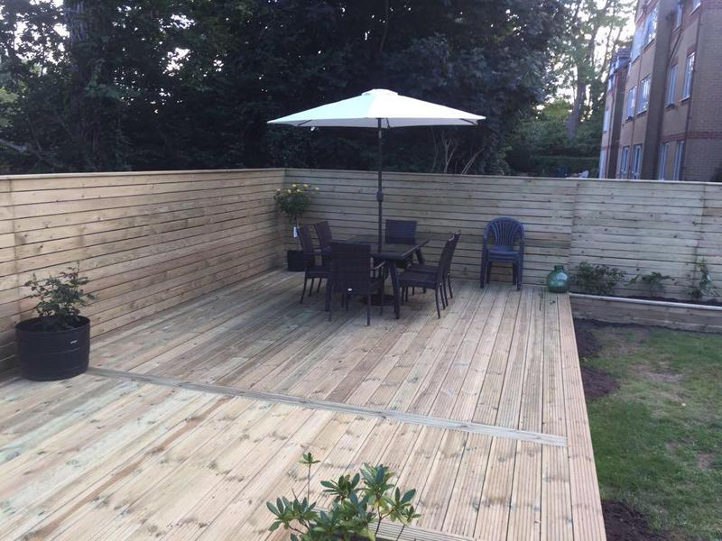 Image 22 - HORIZONTAL CLADDED FENCING WITH DECKING