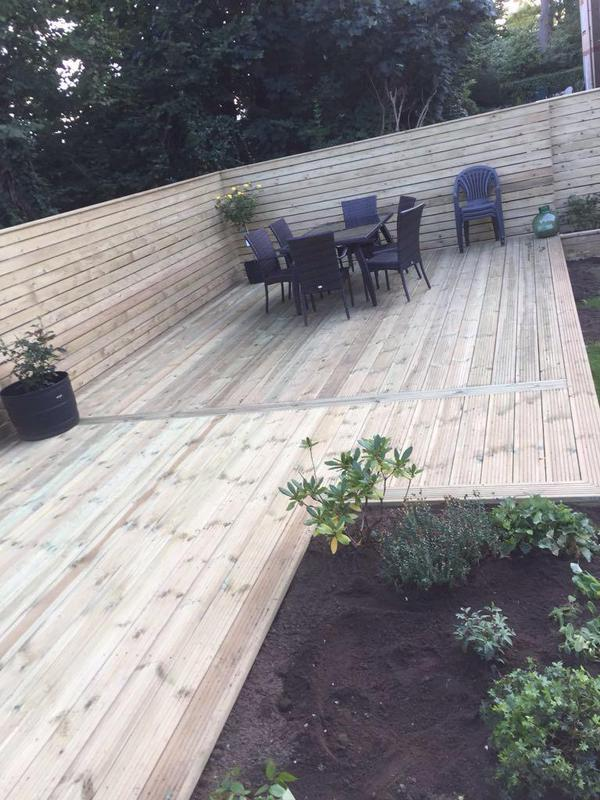 Image 23 - HORIZONTAL CLADDED FENCING WITH DECKING