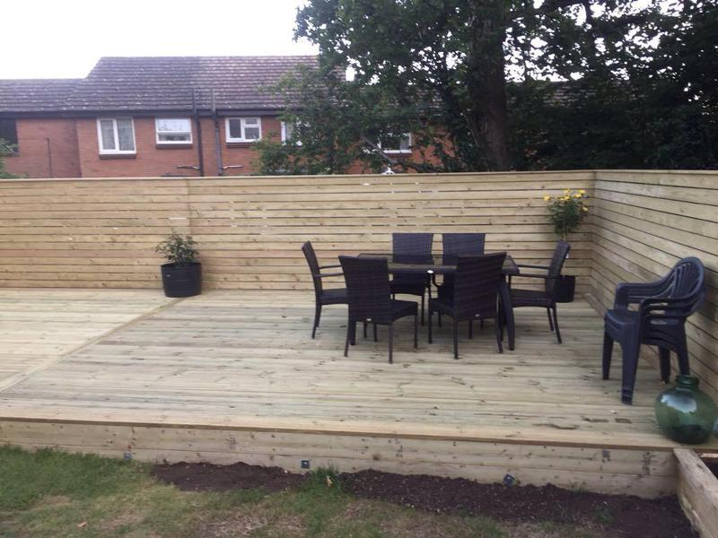 Image 24 - HORIZONTAL CLADDED FENCING WITH DECKING