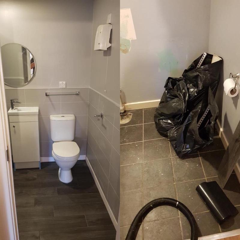 Image 26 - New bathroom refurb-before and after pictures of a new toilet installation.