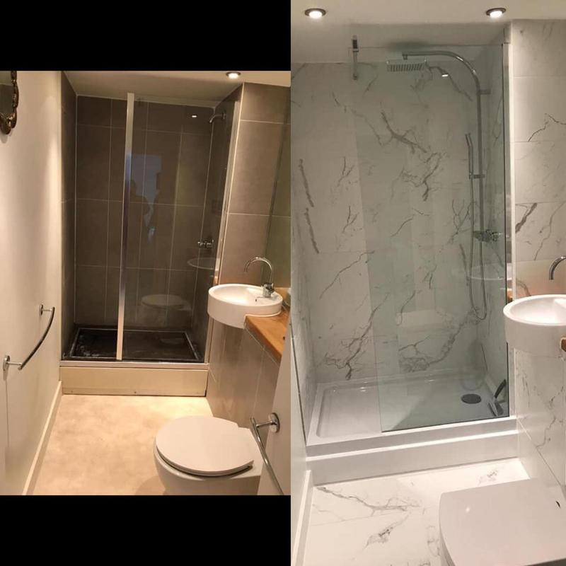 Image 11 - Gorgeous installation of a shower room-before and after picture.