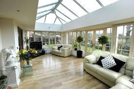 Image 2 - Glass Roof Conservatory with Insulated Plaster Finish Ceiling including LED Spotlights.