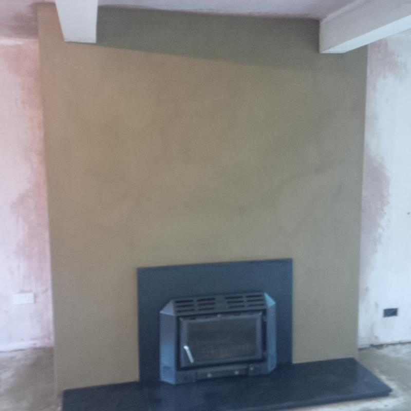 Image 20 - Old fireplace (after) Sand lime and cement