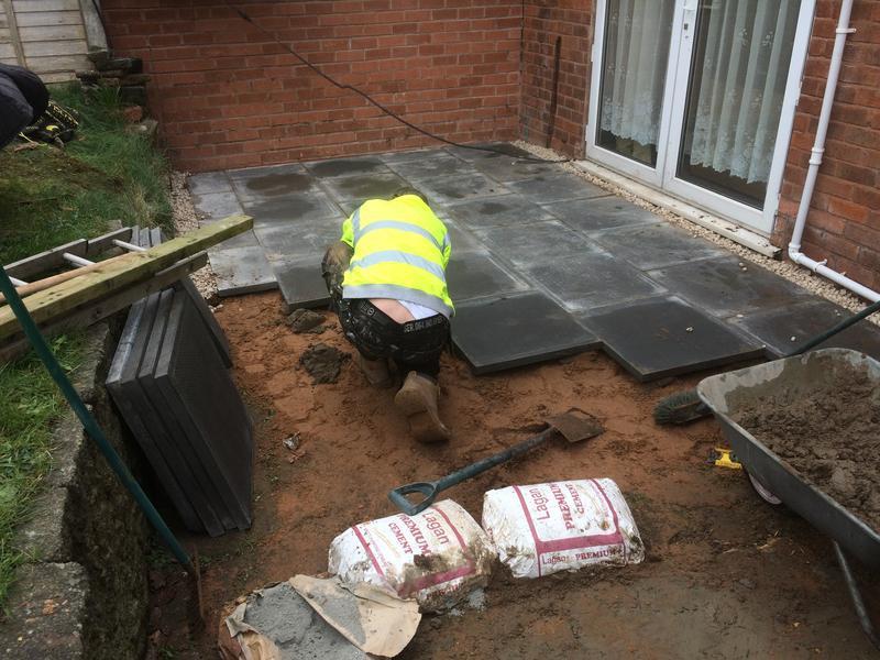 Image 32 - Slabs being laid