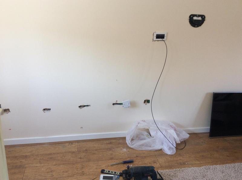 Image 13 - How the cables get to the TV. Then its replaster and install the TV to the wall