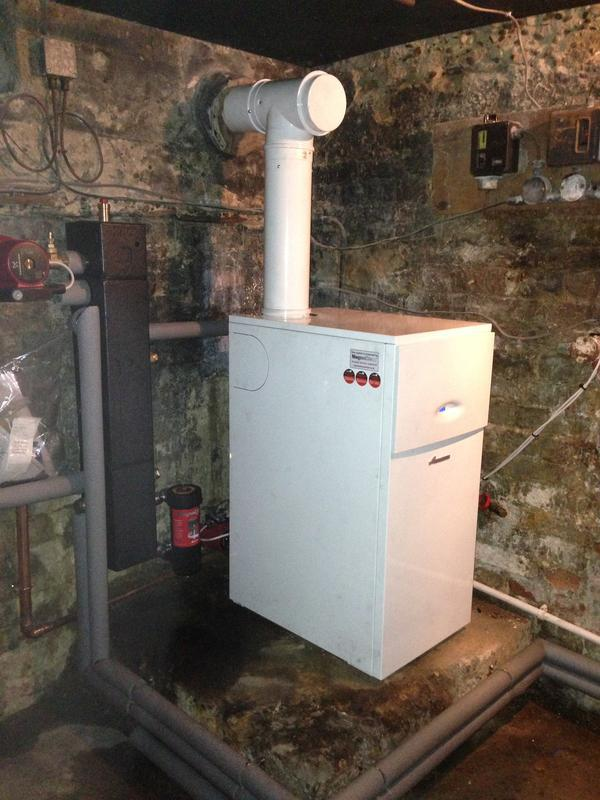 Image 2 - New worcester bosch gas fired floor standing with new lined chimney