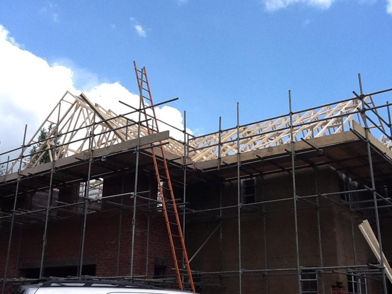 Image 27 - Within Weeks the 100m2 extension has been expertly built Apr - June 2012