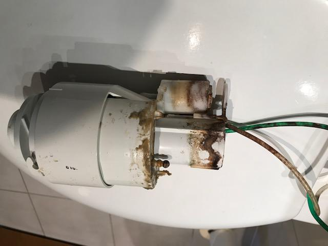 Image 11 - Grohe drop valve removed for replacement.