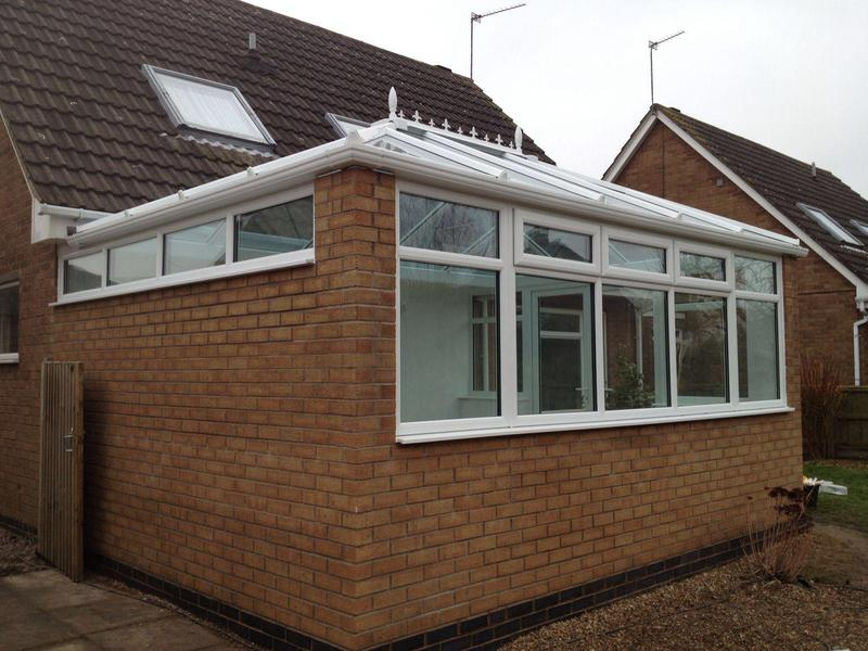 Image 6 - Dinning room extension with glass sun shade roof and 1650mm side wall.