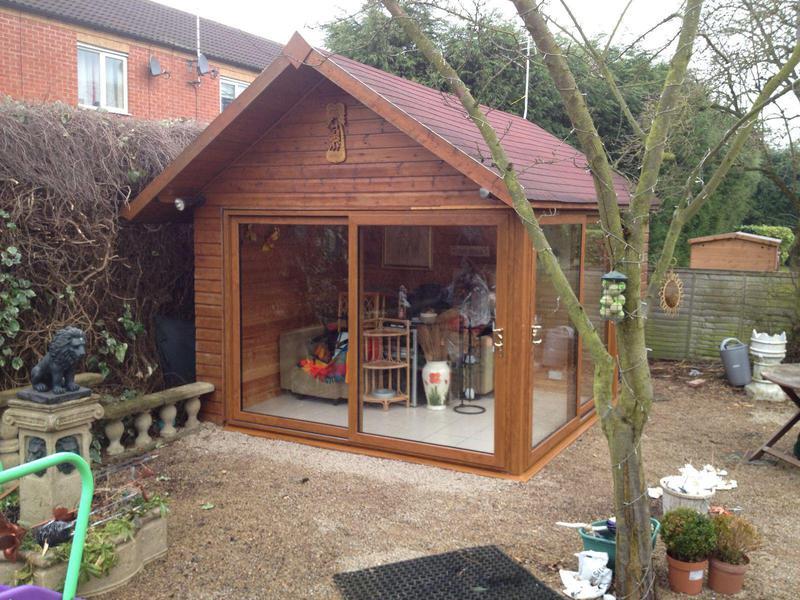 Image 5 - Composite garden summer house.