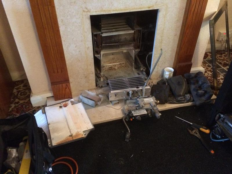 Image 61 - This gas fire was found to be  dangerously blocked up. Hornchurch Gas Fire Service