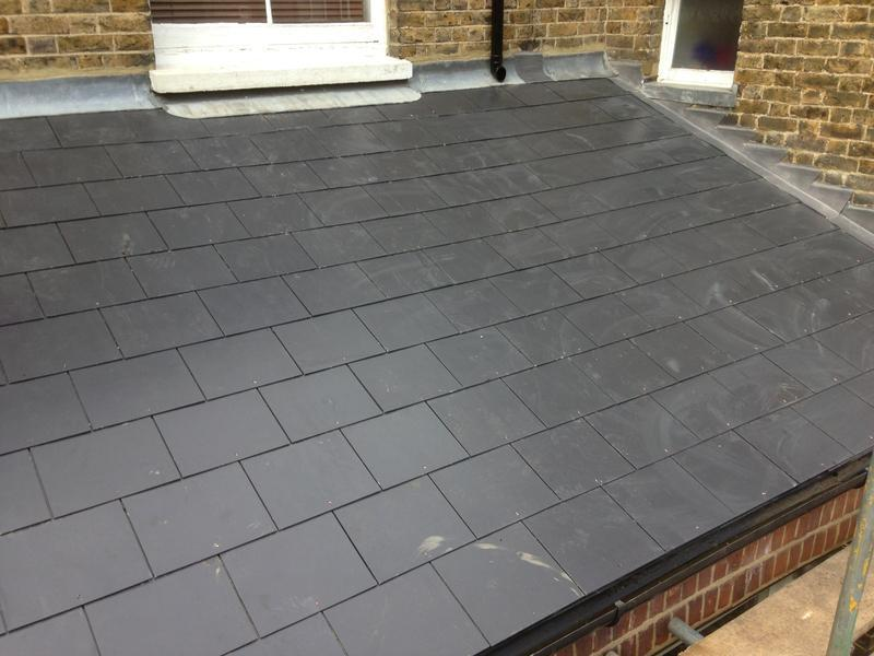 Image 23 - Completed back addition using Marley Thrutone slates (after)