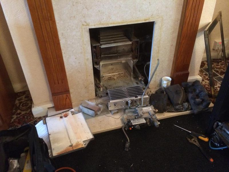 Image 62 - It is essential that gas appliances are serviced regularly. If not they can become dangerous like this gas fire in Dagenham.