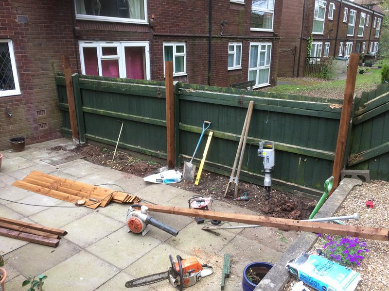 Image 23 - Post in for new fence