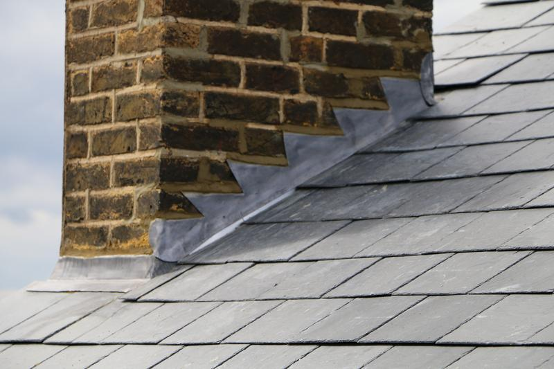 Image 53 - New Lead Flashings Around Perimter Of Chimney Stack - Cheshunt.