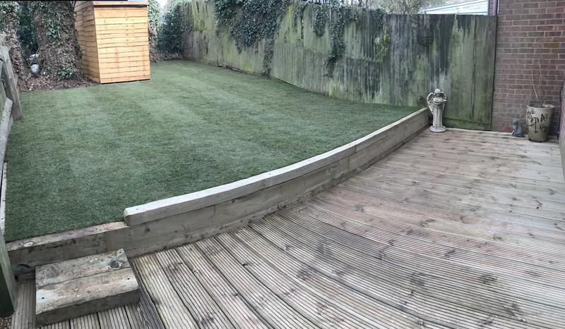 Image 12 - All new decking and retaining sleepers, all new topsoil and turf .