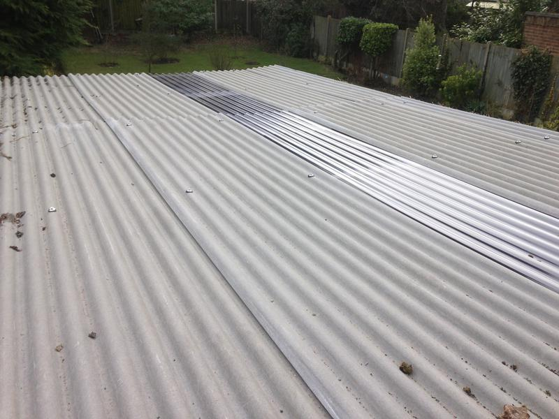 Image 29 - Completed garage Roof using fibre cement sheeting (after)