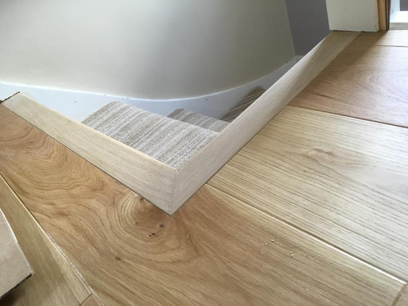 Image 17 - Oak engineered floor - made to job oak trim tongued to the grooved flooring